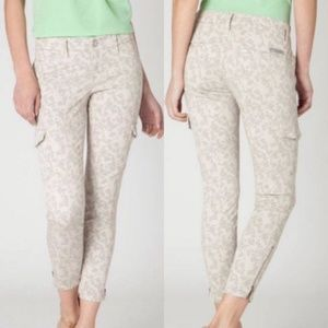 Level 99 Anthro Floral Print Cargo Pants 30 10
